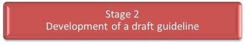 Stage 2 - Development of a draft guideline